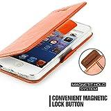 Custodia iPhone SE - Cover iPhone 5s - Mulbess Custodia In Pelle Con Supporto di Stand Cover Per iPhone SE 5 5s Custodia Pelle Arancione