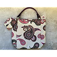 Tote bag with detachable leather straps/Tote bag con asas de cuero desmontables