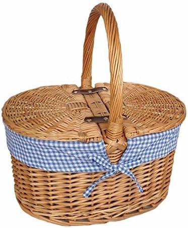 rosso cesto EH053 blu Check Check Check Lining OVAL picnic basket, Marroneee, 23 x 41 x 35 cm   Bassi costi    Servizio durevole  f83802