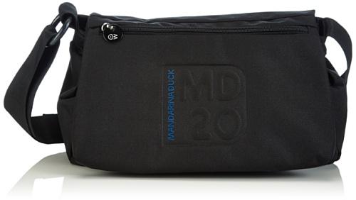 Mandarina DuckMD20 TRACOLLA BLACK - Borsa a tracolla donna , Nero (Nero (nero)), 34x28x17 cm (B x H x T)