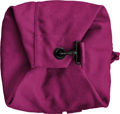 Seesack schwarz mit Doppelgurt 100% Baumwolle ! Pink