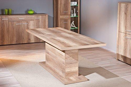 Tavolo moderno da cucina o salotto in colore rovere Eiche Sonoma ...
