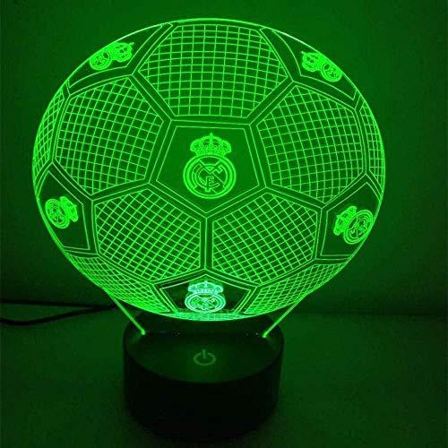 Generic Real Madrid Football Team 3D nachtlicht/led energiesparlampe 7 Farben nachttisch nachtlicht Beleuchtung Kinder Lampe Schreibtisch tischdekoration Lampe