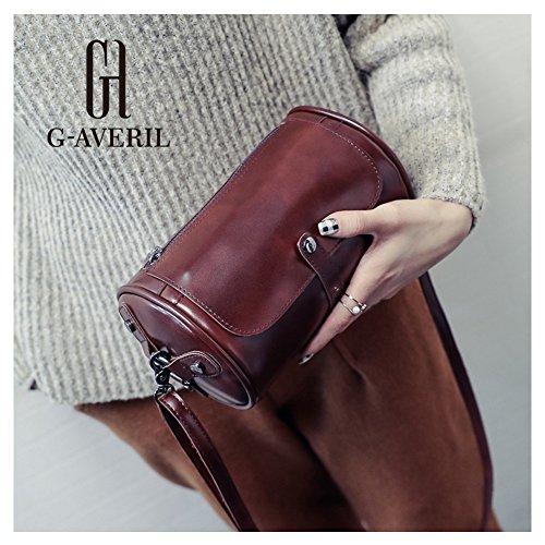 G-AVERIL, Borsa a spalla donna nero Black Dark brown