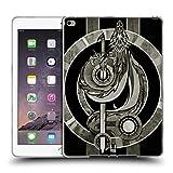 Head Case Designs Silber Mittelalterliche Embleme Drache Soft Gel Hülle für iPad Air 2 (2014)