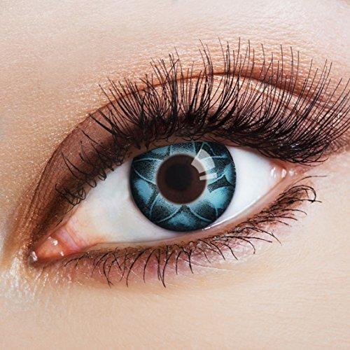 aricona N°568 farbige 12-Monats Kontaktlinsen ohne Stärke, 2 Stück, Starry Sky, (Kostüme Figuren Halloween Moon Sailor)