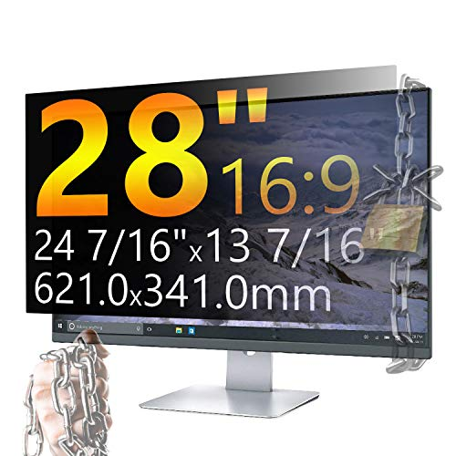 Xianan Privacy Screen Protector 28 Inch Monitor, Privacy Filter for 16:9 Widescreen PC Computer, Monitor Privacy Screen 28 Inch, Anti-Glare Computer Privacy Screen, Monitor Protector for Laptop