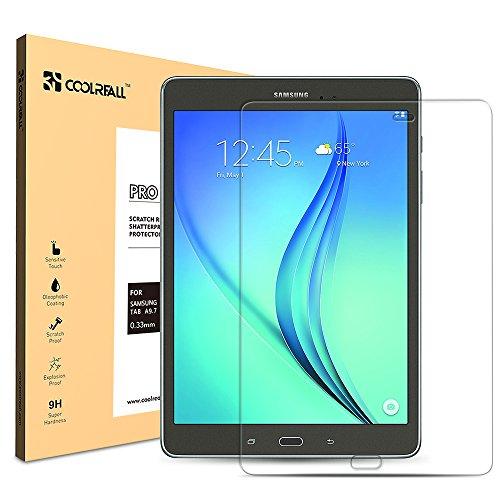 CoolReall - Protector de Pantalla de Vidrio Templado para Tablet Samsu
