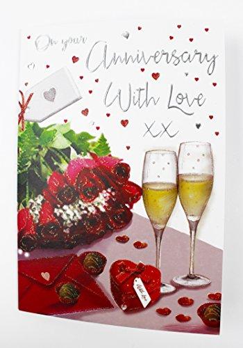 versary Karte Liebe für Ihn der Paar große Qualität Vers (50 Wedding Anniversary Dekorationen)