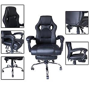 51HJ6JhrZXL. SS300  - huigou-HG-Silla-Giratoria-De-Oficina-Gaming-Chair-Apoyabrazos-Acolchados-Premium-Comfort-Silla-Racing-De-Carga-Altura-Ajustable