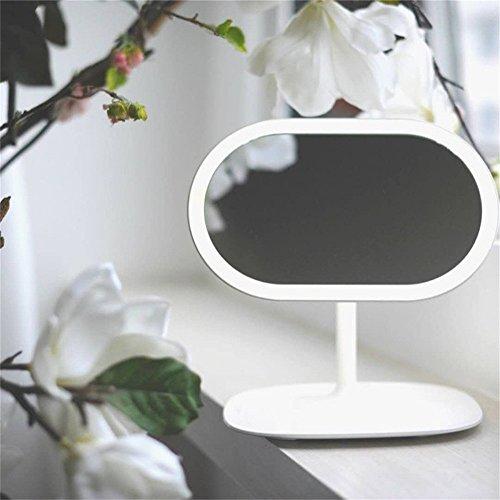 Espejo De Maquillaje, Espejo De Maquillaje Desmontable, Espejo De Vanidad Casero, Espejo De Lámpara De Escritorio Interior, Rotación De 360 Grados, Lámpara Recargable Extraíble LED