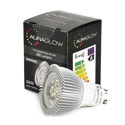 AURAGLOW Energiesparlampe 6w LED GU10 Spot Warmes Weiß Leuchtmittel, Entspricht 50w, dimmbar