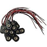 10x Batterieclip 9-Volt Block Batterie Akku I-Typ Clip Snap Anschluss Kabel für 9V Blöcke Stecker Anschlusskabel