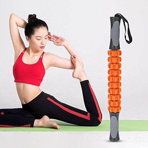 Muskel Roller Massage Stick, Self Myofascial Release-Tool für Druck Trigger-Punkte, Muskelkater und Schmerzlinderung Massagegerät für Sportler, Trainer, Yoga und jedem Training