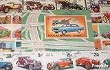 Prophila Collection Motive 100 verschiedene Auto und Motorfahrzeuge Briefmarken (Briefmarken für Sammler) Straßenverkehr