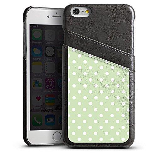 Apple iPhone 5s Housse Étui Protection Coque Polka Petits points Motif Étui en cuir gris
