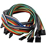 Alcoa Prime 10 Pcs Female To Female 5P Jumper Wire Ribbon Cable Pi Pic Breadboard DIY 50cm Long