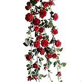 Photo de Imixcity® 10 * 1 Simulation Rose Bouquet PU Fleurs Artificielles Réel Tactile Calla Lily pour Décoration de Maison Bouquet de Mariage par Imixcity