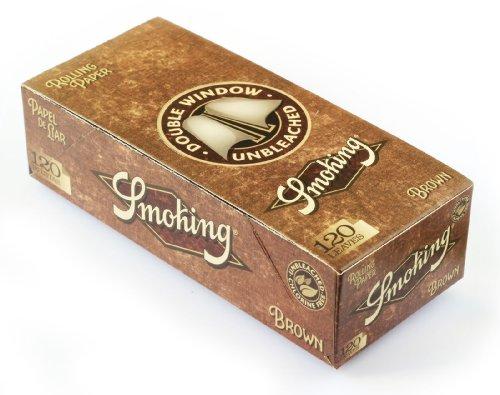 Smoking BROWN Double papier à rouler UNBLEACHED – 1 boîte = 3000 papiers