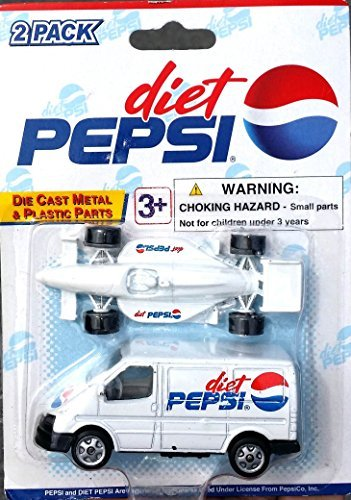 diet-pepsi-indy-rally-lemans-car-support-ford-transit-van-set-in-164-scale-diecast-metal-by-pepsi