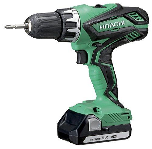 Hitachi DV18DJL 1,5 Ah Taladro, 36 W, 18 V, Verde-Negro