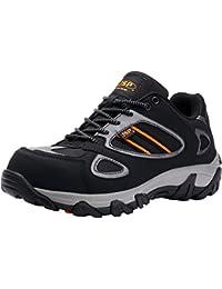 Zapatillas de Seguridad Hombre,LM-18 Zapatos Antideslizantes con Punta de Acero