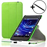 ForeFront Cases® New Google Nexus 7 FHD Rotating Leather Case Cover / Stand For Google Nexus 7 FHD Tablet (7-Inch, 16GB, Black) by ASUS (2013) with Magnetic Auto Sleep Wake Function + Stylus Pen Worth £4.50 - GREEN