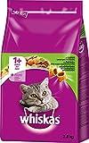 Whiskas Katzenfutter Trockenfutter Adult 1+ mit Lamm, 3 Beutel (3 x 3,8 kg)