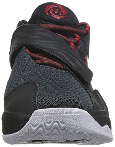 adidas Herren D Rose Englewood Boost Basketballschuhe Black (Grpudg / Rojray / Negbas)
