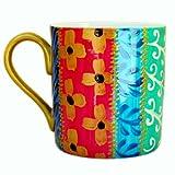 Une Grande Tasse ou Mug en fine porcelaine anglaise et peinte à la main en dessin 'Tsarina' pour thé ou café. Coffret Cadeau...