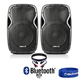 "Best Dj Speaker Pairs - Pair of Active Powered 12"" Bluetooth DJ PA Review"