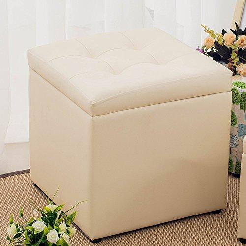 Deposia con la forma di quadraa poggiapiedi sgabello caffè scrivania cucciolo passo,resistente & comodo deposia casella per sedua -ispessita mdf costruzione sgabello sede tiene fino a 660 libra (statico carico capacità) -grande