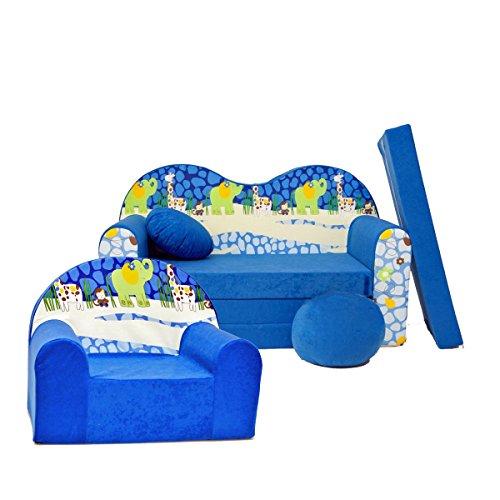 Barabike C16 pour Enfants Ensemble, bébé Lot de 2 pour Enfant Canapé + Fauteuil pour Enfant
