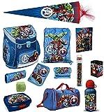 Familando Avengers Schulranzen-Set 16tlg Scooli Campus Fit mit Sporttasche...