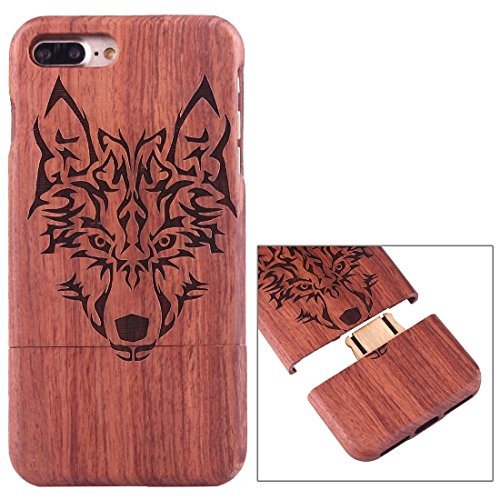Hülle für iPhone 7 plus , Schutzhülle Für iPhone 7 Plus Rosewood Schützende Rücken Trennbare Artistic Carving Tiger Kopf Muster Fall Shell ,hülle für iPhone 7 plus , case for iphone 7 plus ( SKU : Ip7 Ip7p1450m