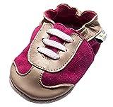 Jinwood designed by amsomo - SPORTY fuchsia - soft sole - Turnschuhe - Hausschuhe - Lederpuschen - Krabbelschuhe, EU 24/25