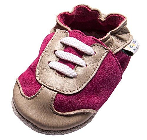 Produktbild bei Amazon - Jinwood designed by amsomo 12 Verschiedene Modelle - Mädchen - Hausschuhe - Lederpuschen - Krabbelschuhe - Soft Sole/Mini Shoes Div. Groeßen 17/19-35/36