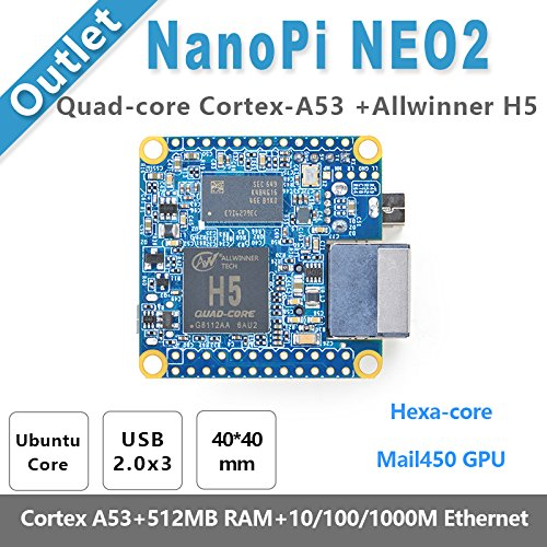 nanopi Neo2Allwinner h5,64Bit Hochleistungs-, Quad-Core A53DEMO BOARD, Laufen ubuntucore