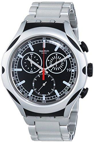 Swatch Black Energy - Orologio al quarzo unisex, diametro cassa 45 mm