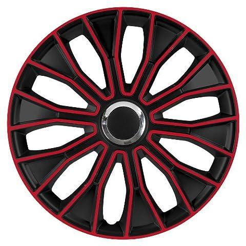 14 Zoll 15 Zoll 16 Zoll Radzierblenden / Radkappen Voltec pro Black red 14