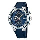 FESTINA - F16667/5 - Montre Homme - Quartz Chronographe - Chronomètre/Aiguilles Luminescentes - Bracelet Polyuréthane Bleu
