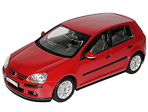 VW Volkswagen Golf V Rot 5 Türer 2003-2008 1/24 Welly Modell Auto