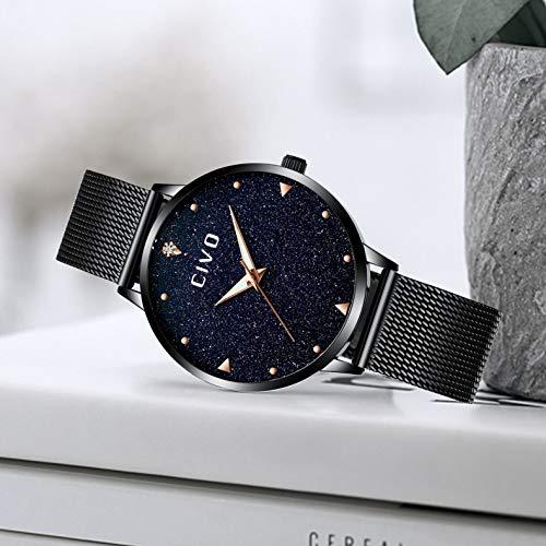 42f9b5f6818b CIVO Relojes para Mujer de Acero Inoxidable Impermeable Relojes de ...