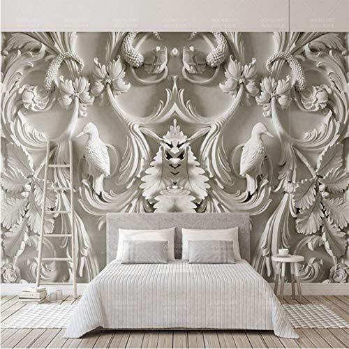 Wiwhy Relief Gips 3D Wandbild 8D / 3D Wandbild Lpaper Für Bedrtv Hintergrund 3D L Papier 8D Foto Wandbild 3D Lcoverings-350X250Cm -