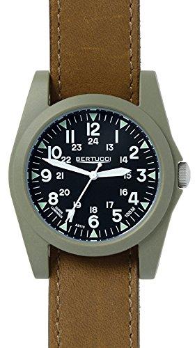 Bertucci 13366Unisex cinturino in pelle nero quadrante policarbonato marrone Smart Watch