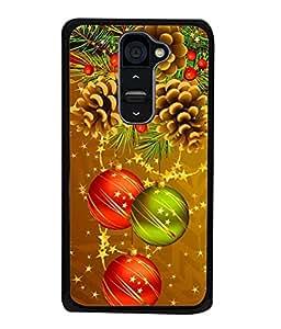 PrintVisa Designer Back Case Cover for LG G2 (multi coloured sparkling decoration christmas)