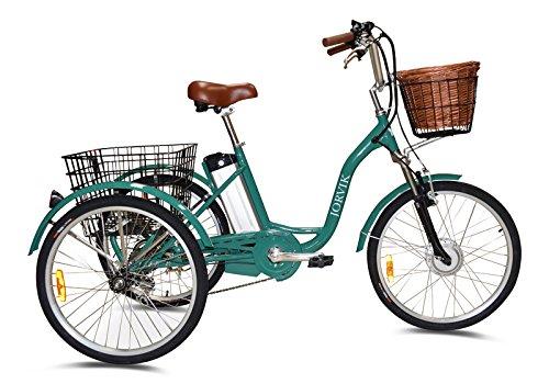 JORVIK TRICYCLES JORVIK 24 - Marco de aluminio para soldar de estilo vintage, triciclo elástico, para adultos, 250 W/36 V, varios colores disponibles, verde