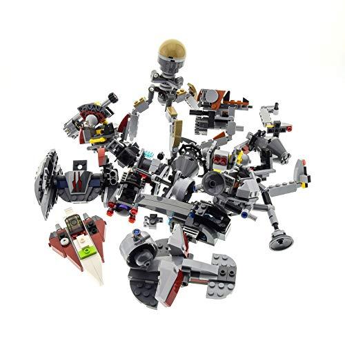 Bausteine gebraucht 1 x Lego System Star Wars Mini Teile Set Modelle für Micro Raumschiffe 75006 Jedi Starfighter 75073 Vulture Droid grau Incomplete unvollständig