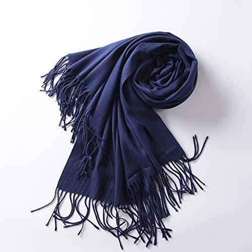 Cxigua donna sciarpa riscaldamento invernale lungo scialle,blu navy