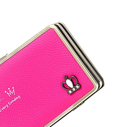 Portafogli da Donna Borsa con Foglia d'albero, Sunroyal Multifunzionale [Grande capacità] Smartphone Wristlet Custodia Case Cover per iPhone 7 /7Plus /6S /6S Plus /6 /6Plus /SE /5S, Samsung Galaxy S8  Modello 23